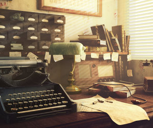 office, telephone, and vintage image