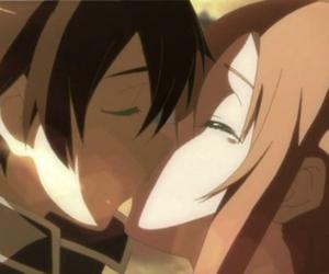 anime, kiss, and sao image