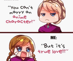 anime, frozen, and elsa image
