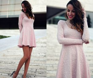 fashion, high heels, and pink dress image