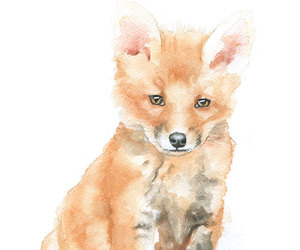 fox, art, and cute image