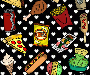 pizza, food, and popcorn image
