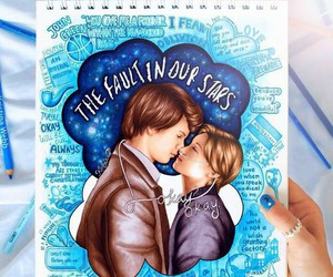 the fault in our stars, tfios, and drawing image