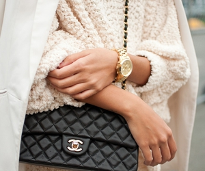 fashion, chanel, and sweatshirt image