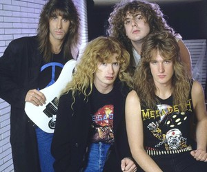 dave mustaine, david ellefson, and jeff young image