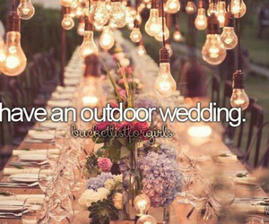wedding, outdoor, and bucketlist image