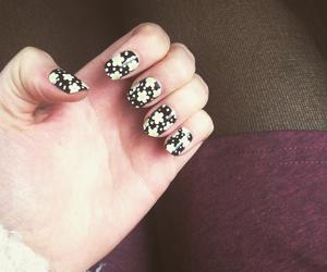 black, nails, and cute image