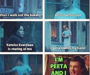 peeta, funny, and the hunger games image