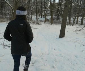 black, snow, and girl image