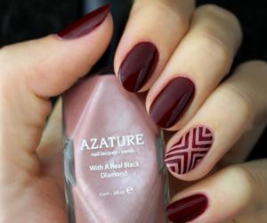 burgundy, nail, and nailpolish image