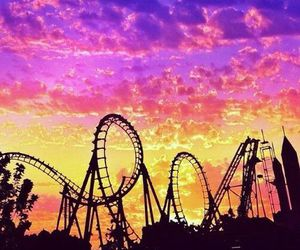 Roller Coaster, fun, and summer image