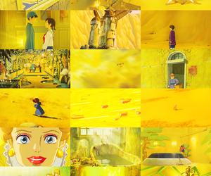 yellow, anime, and ghibli image