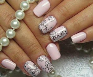 beauty, flowers, and manicure image