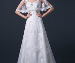 a-line, modest, and sweetheart image