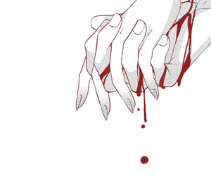 blood, anime, and hands image