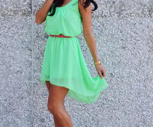dress, neon, and pretty image