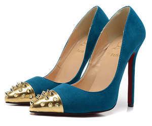 christian louboutin shoes, red bottom shoes, and blue red sole pumps image