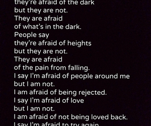 love, fear, and afraid image