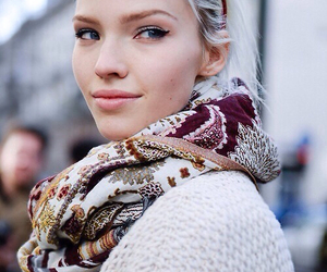 model, blonde, and sasha luss image
