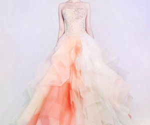 dress, pastel, and peach image