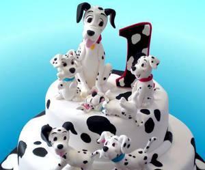 101 dalmatians, birthday cake, and food image