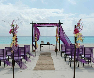 purple and wedding image