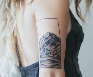 arm, pale, and tattoo image