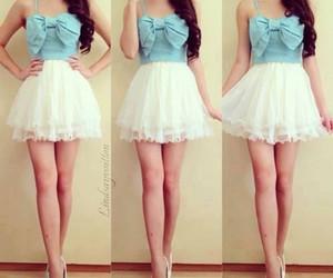 bows, dress, and fashion image