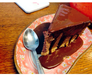 cake, chocolate, and mousse image