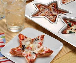 pizza, stars, and food image