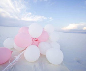 balloons, pink, and beautiful image