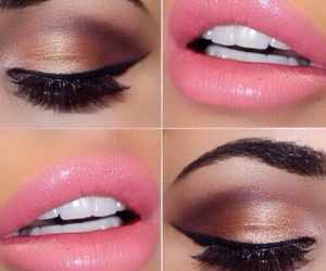 make up, eyeliner, and eyeshadow image