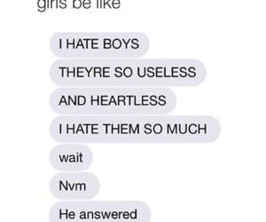 girl, boy, and funny image