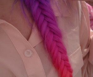 braid, hair style, and colored image