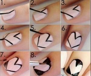 black, nail art, and tutorial image