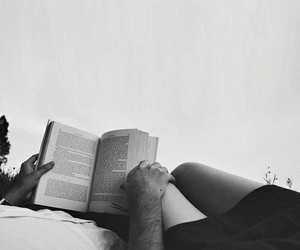 book, couple, and girl image