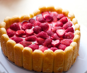 strawberry, cake, and food image