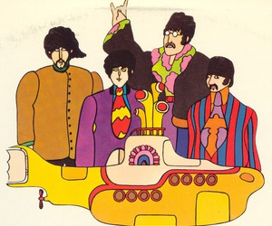 the beatles, yellow submarine, and beatles image