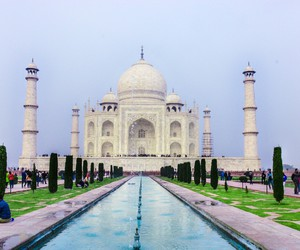 agra, india, and monuments image