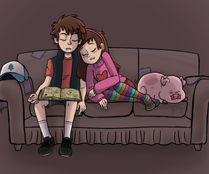 cartoon, gravity falls, and love image