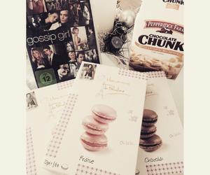 Cookies, gossip girl, and macarons image
