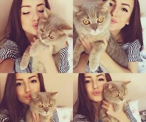 anna paciu, cat, and girl image