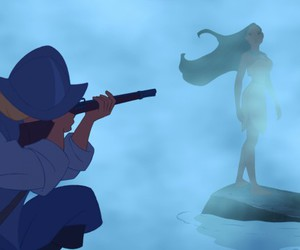 disney, john smith, and pocahontas image