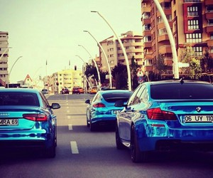 audi, blue, and bmw image