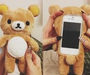 bear, iphone, and teddy bear image