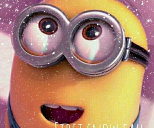 minions, snow, and cute image