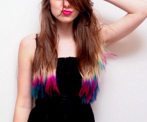 beautiful, dye, and girl image