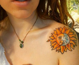 love, hippie, and tattoo image