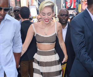 blonde, long skirt, and miley cyrus image