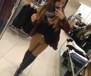 ashley, japan, and flannel image